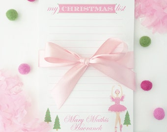 My Christmas List Sugar Plum Fairy Notepad