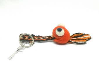 Funny Felt Keychain Little orange monster