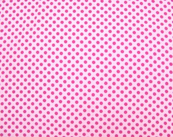 Flannel Fabric by the Yard in a Pink on Pink Polka Dot Print 1 Yard