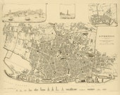 Vintage Map - Liverpool, England 1836