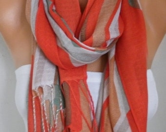 ON SALE --- Red Cotton Scarf, Fall Shawl, Cowl Oversized Wrap,bridesmaid gift,bridal scarf Gift Ideas For Her Women Fashion Accessories Wome