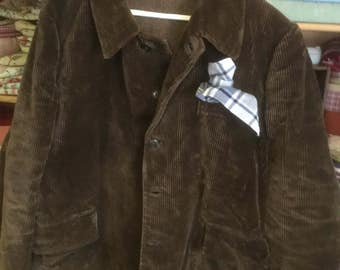 Gorgeous corduroy tweed lined man's hunting jacket vintage French