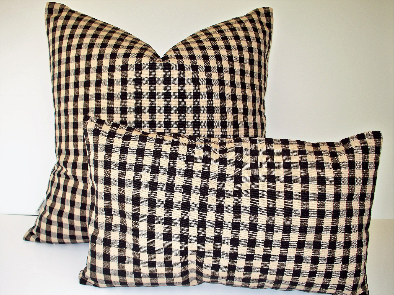 black tan check pillow cover ballard designs black cream details black tan check pillow cover ballard designs