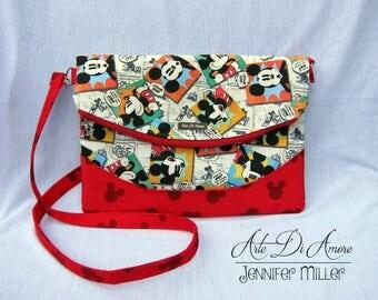 Heidi Swoon Crossbody Bag: Mouse Cartoon Print