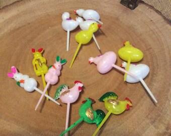 Vintage Cupcake Easter Spring picks