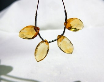 Citrine-Quartz Faceted Marquise Beads  AAA+++ High Quality Size 8x16MM Approx 100% Natural 4 Beads Wholesale Price