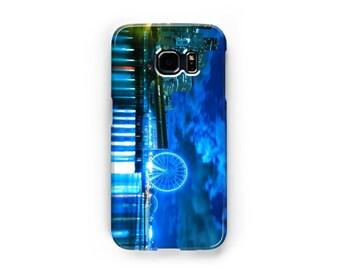 Blue Seattle Waterfront Samsung Galaxy Case - Available for Samsung Galaxy S7 Edge, Galaxy S7, Galaxy S6 Edge, Galaxy S5, Galaxy S4