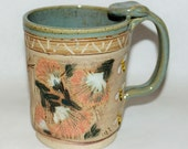 Handmade Pottery Mug / Natural Flowers