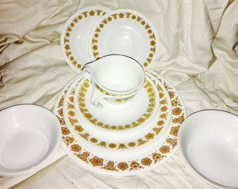 Corelle Butterfly Gold Dishware Set - Service for 2