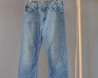 SALE Levi Strauss Faded Jeans Denim Pants Vintage 90's straight leg jeans