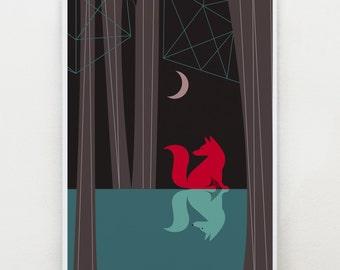 Woodland fox, Art by Ellen Giggenbach