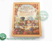 Vintage Alice's Adventures in Wonderland by Lewis Carroll, Illustrated by S. Michelle Wiggins Hardcover w/ Dust Jacket 1980s