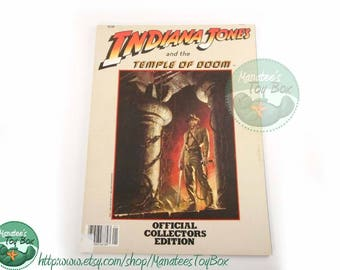 Vintage 1980s Indiana Jones Movie Book: The Temple of Doom Paperback
