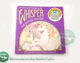 1980s Whisper's Secret Dream Starring Whisper the Winged Unicorn Paperback Book