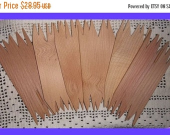 ON SALE Unfinished  Red Pine Wood Planks, Cut Jagged Rustic Edge, DIY Sign Pieces, Rough , Set 6
