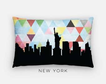 New York City skyline pillow   New York City pillow   New York skyline pillow   geometric New York pillow   New York home decor   NYC pillow