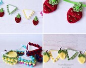 CROCHET PATTERNS Summer Banners by Yarn Blossom Boutique: Instant Download PDF (Lemon Garland, Strawberry Banner, Bunting))