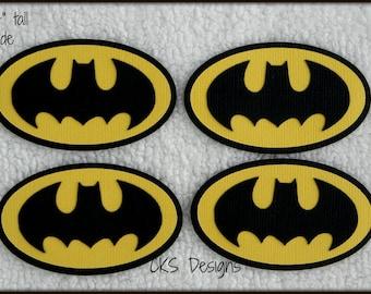 Die Cut Superhero BATMAN Tags Premade Paper Piecing Embellishment for Card Making Scrapbook or Paper Crafts