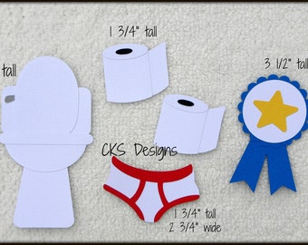 Die Cut Potty Training BOY Scrapbook Page Embellishments for Card Making Scrapbook or Paper Crafts