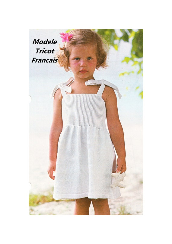 telecharger pdf french language knitting pattern modele With robe été fille