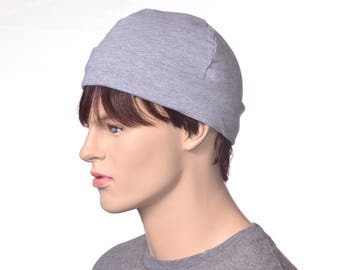 Light Gray Workshop Artisan Skull Cap Made of Cotton Poor Poet Hat