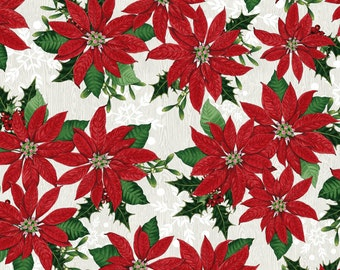 Winter Lodge - Red Poinsettia by Studio Frivolite from Studio E