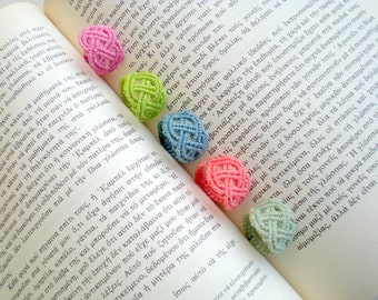 Macrame rings. Macrame jewelry. Celtic style. Colorful. Handwoven. For summer. Water resistant.