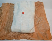 30s Long John Union Suit Underwear Vintage Thick Cotton Deadstock NOS with Wrapping