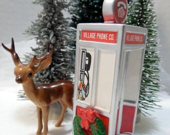 Snow Village, Dept 56 Village Phone Booth, The Original Snow Village, Christmas Village Collection, Dept 56, Merry Christmas, Phone Home...