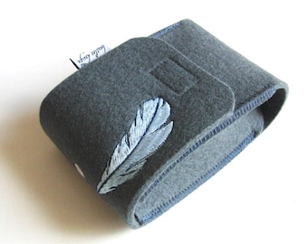 Cameracase, wool felt, embroidery