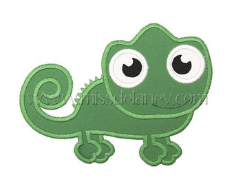Chameleon Applique Design