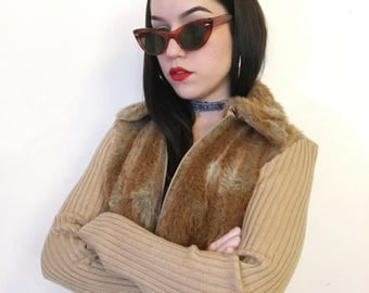 XOXO Fuzzy Zip Up Jacket