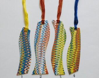 Unique handmade polymer clay bookmark