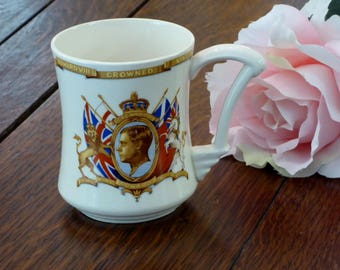 Coronation Cup King Edward VIII 1937, Tamsware Coronation Shape Mug 1937, Coronation Cup Edward 1937