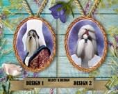 Shih Tzu  Jewelry. Shih Tzu Pendant or Brooch. Shih Tzu Necklace. Shih Tzu Portrait.Custom Dog Jewelry by Nobility Dogs.Dog Handmade Jewelry