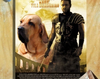 Fila Brasileiro Vintage Art Poster Canvas Print - Gladiator Movie Poster NEW Collection by Nobility Dogs