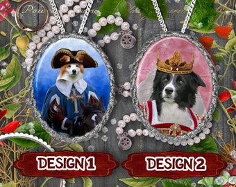 Border Collie Jewelry Border Collie Pendant or Brooch Border Collie Necklace Border Collie Portrait Custom Dog Jewelry by Nobility Dogs