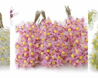 Artificial Flowers Party Favors Millinery Decorative Flowers 72 pcs