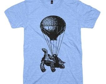 Flying Turtle TShirt Funny Animal Tshirts Vintage Hot Air Balloon Mens Pilot Gifts Flying Turtle Tshirt Womens Tshirt Cool Birthday Gift Tee