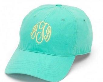 Monogrammed Mint Baseball Hat, Monogrammed Mint Baseball Cap, Hat with Monogram, Custom Hat, Monogram Ball Cap, Monogram Ball Hat