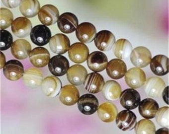 62 AGATE Gemstone Beads 6mm - COD8353