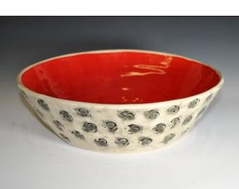 Handmade Ceramic Salad Bowl, Wheel thrown bowl, Vegetable Bowl, Chip Bowl, Fruit bowl