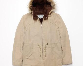 Fur Hood Jacket Men's Medium