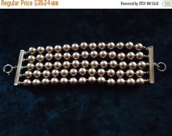 Now On Sale Vintage Gold 5 Strand Bracelet 1950s 60s 70s Mad Men Mod Old Hollywood Glam