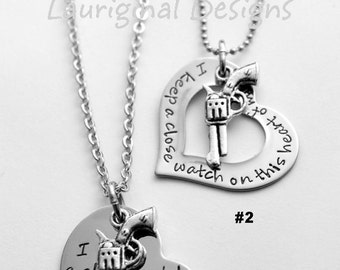 I keep a close watch on this heart of mine necklace - Gun Necklace - Heart and Gun Necklace - Johnny Cash necklace