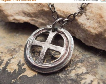 SPRING SALE 25% OFF Celtic Cross Sterling Silver Pendant Necklace Handmade Jewelry for Men or Women