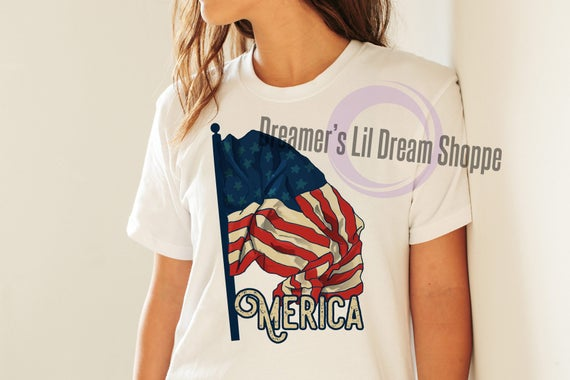 Merica TShirt and Maternity Shirt Iron-on Printable Instant Download