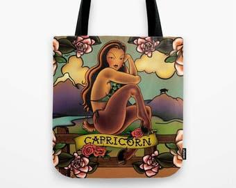 Tattoo Capricorn Tote Bag