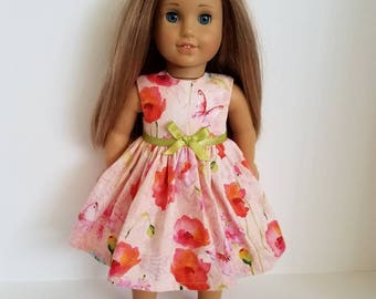18 Inch Doll-American Girl Dress: Pretty Poppies