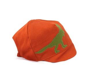 BOYS Reversible T-Rex Hat - Wee Dee Summer Dinosaur Cap - Baby, Toddler or Kids - XXS S M L